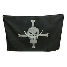 60x90cm One Piece Anime Edward Newgate Flag Skull Pirate Polyester Banner