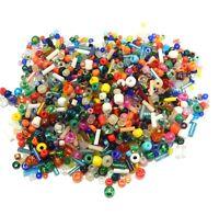 250g Rocailles Glas Perlen 2/3/4/6 mm Mix Rund und Stift Bunte Gemischt Z16#250g