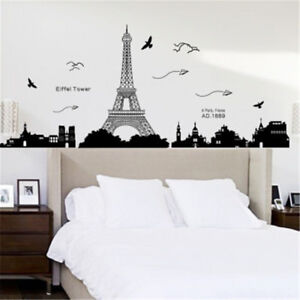 Home Decor Removable Paris Eiffel Tower Art Decal Wall Sticker Mural Bedroom