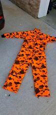 Saf T Bak Insulated Blaze Orange Camo Hunting Coveralls ZIP UP - PA,USA SAFTBAK
