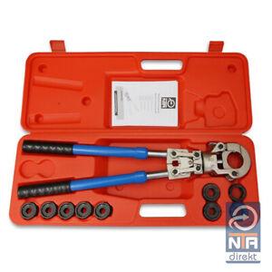 NTA Presszange V-Kontur 12-28mm + TH-Kontur 16-32mm Set Presswerkzeug Pressbacke