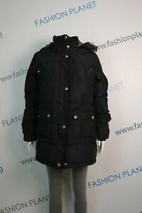 Burberry Brit Women's Puffer  Down Insulated Parka Black Removable  Sz 3XL