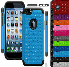 NEW HYBRID DUAL LAYER BLING SHOCKPROOF CASE SILICON COVER FOR APPLE iPHONE 6 4.7