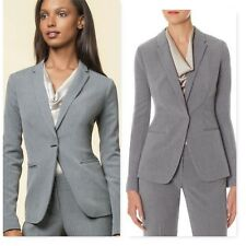 The Limited Scandal Collection Pinstripe Jacket narrow lapel gray blazer coat XS