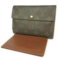 Sale! Auth LOUIS VUITTON M61202 Monogram Etui Papier Wallet Purse 2662b