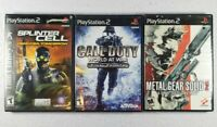 Metal Gear Solid 2, Call Of Duty World At War, Pandora Tomorrow - Sony PS2 Lot