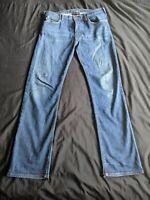 Emporio Armani Men's J21 5 Pocket Regular Fit Blue Jeans 32W 32L