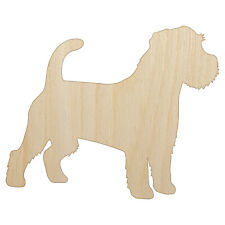 Rough Coated Jack Russell Terrier Parson Dog Unfinished Wood Shape Cutout Craft