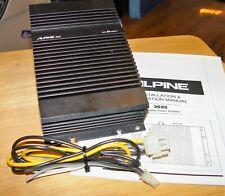 ////ALPINE 3522 BRIDGEABLE POWER AMPLIFIER 2 CHANNEL w/HARNESSES OLD SCHOOL MONO