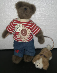 """Boyds Bear T.J.s Best Dressed Collection """"Cousin Marty w/ Rover"""" #90508 w/ Tags"""