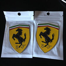 2pcs Ferrari metal car badge logo aluminum logo sticker ferrari decal emblem us