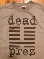 Dead Prez T-Shirt (Size XL) Loud Records Vintage Tan Brown Rare