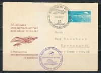 Germany DDR 1962 cover Bork-Bruck 1st Air Mail Flight 50th annivers.Gedenkflug