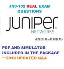 Juniper Junos, Associate (JNCIA-Junos) JN0-102 VERIFIED Exam Q&A PDF+SIM