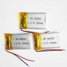 3pcs 150mAh lipo Polymer Battery 3.7V power For Mp3 GPS bluetooth recoder 302030
