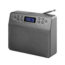Akai Grey Metal DYNMX Portable Battery-Operated DAB Radio Digital Audio Tabletop