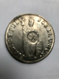 Philippine Counter Stamp F.7 Ferdinand VII  ON 1832 Peru 8 Reales No Damage