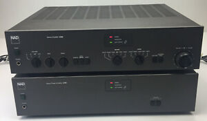 NAD Stereo 2155 Power Amplifier & 3155 Amplifier Vintage 1984 Working
