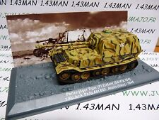 PZ1 Tank (Tanque) militar 1/72 PANZER n°1 Panzerjäger Tiger Elefant SdKfz 184