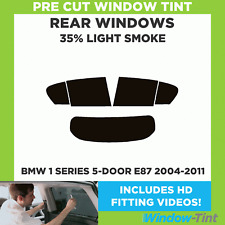 BMW 1 SERIES E87 5-DOOR 2004-2011 35% LIGHT REAR PRE CUT WINDOW TINT