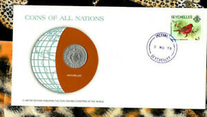 Coins of All Nations Seychelles 50 cents 1977 UNC