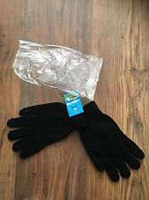 Adult One Size Black Cotton Gloves - RRP £7.49 - Brand New In Plastic