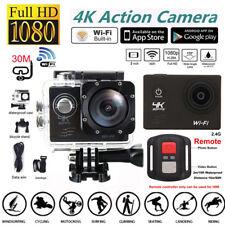 Ultra HD 4K 1080p WIFI Waterproof Sports Action Video Camera Go Pro Fit Mount AU