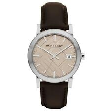 Burberry BU9011 Dark Brown Leather Analog Quartz Men's Watch