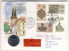 DDR - Numisbrief - 750 Jahre BERLIN - NIKOLAIVIERTEL - echt gelaufen - WERTBRIEF