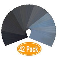 42pcs Sandpaper 120 to 3000 Grit Wood Finishing Metal Sanding Polishing Wet Dry