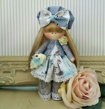 Bambola di pezza fatte a mano nel Regno Unito Tilda doll bambola OOAK bambola di stoffa Hope 6 Pollici DI ALTEZZA
