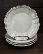 """Set of (4) SUR LA TABLE Antique Rustic Design Salad Plates - 8 3/4"""" in Diameter"""