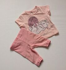 Nouveau-né bébé fille 0-1 mois Disney & TU rose aristochats T-shirt Top + Leggings