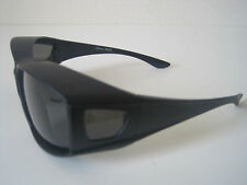 Andevan™ 100% UV Polarized cover over sunglasses black with smoke lenses size M