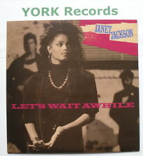 "JANET JACKSON - Let's Wait Awhile - Excellent Condition 7"" Single A&M USA 601"