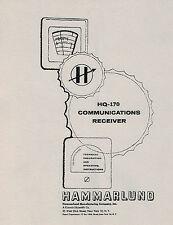 Hammarlund HQ-170 Operator & Service Manual
