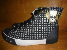 The Simpsons Cartoon Tennis Shoes Black Hi Tops Comic Strip  Sneakers 37 6 - 6.5