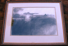 Alan Purnell original charcoal artwork titled 'Country Morning' Australia