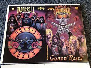 Guns N Roses Rock Roll 1990 Comic UNFOLDED COVER - GREAT for FRAMING Slash / Axl