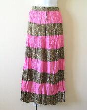 Bohemian Peasant Print Broomstick Patchwork Tier Long Maxi Skirt - XS, S, M & L