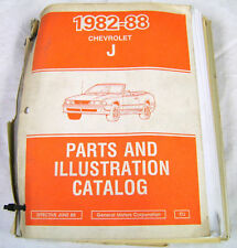 1982 to 1988 Cavalier Parts & Illustration Catalogue