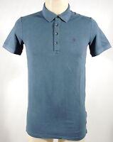 T-shirt maglietta polo cotone uomo GUESS a.M41P01 K13L0 T.XS col.E800 topaz