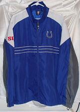 Indianapolis Colts SI Reebok Polyester Windbreaker Jacket Mens Size XL ~ New
