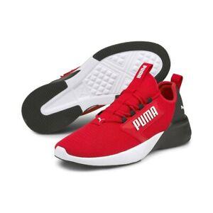 Puma Mens US 10 UK 9 Retaliate Red Black Trainers Sneakers Runners Free Post