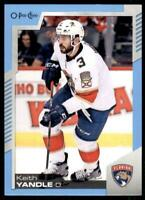 2020-21 UD O-Pee-Chee Blue Border #495 Keith Yandle - Florida Panthers