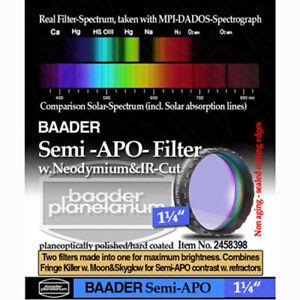"""Baader Planetarium 1.25"""" Semi-APO Filter # FSAPO-1  2458398"""