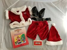 Teddy Ruxpin Santa Outfit Christmas Book and Tape