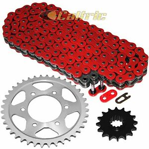 Red O-Ring Drive Chain & Sprockets Kit for Honda CBR600F4I 2001-2006