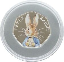 2016 Beatrix Potter Peter Rabbit 50p Fifty Pence Silver Proof Coin Box Coa 00527