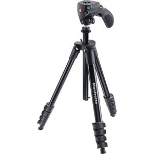 Manfrotto MKCOMPACTACN-BK Compact Action Aluminium Tripod with Hybrid Head 60""